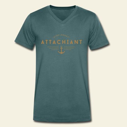 Attachiant - T-shirt bio col V Stanley & Stella Homme