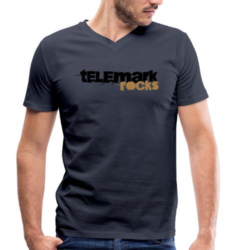 Telemark rocks-T-Shirt - Männer Bio-T-Shirt mit V-Ausschnitt von Stanley & Stella