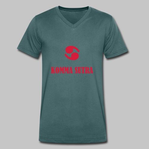 Komma Sutra - Männer Bio-T-Shirt mit V-Ausschnitt von Stanley & Stella