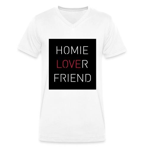 Lover Friend - Männer Bio-T-Shirt mit V-Ausschnitt von Stanley & Stella