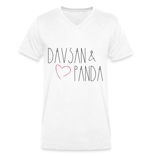 Davsan & Panda - Männer Bio-T-Shirt mit V-Ausschnitt von Stanley & Stella