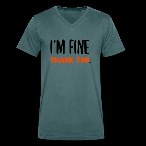 I'm Fine - Mannen bio T-shirt met V-hals van Stanley & Stella