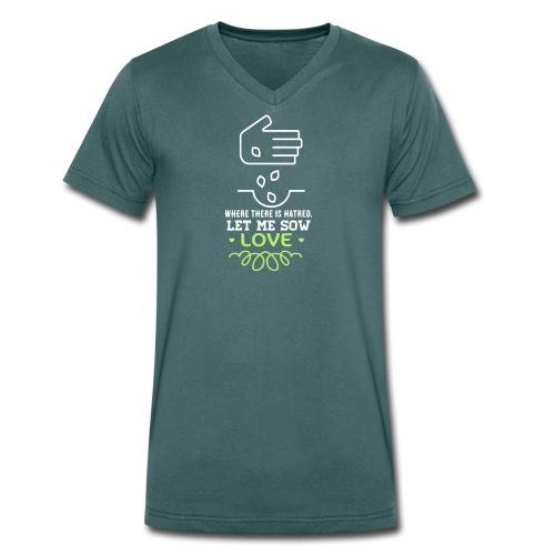 Laat me liefde zaaien - Shirt v-hals - Mannen bio T-shirt met V-hals van Stanley & Stella