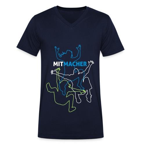 Mitmacher Tshirt Männer - Männer Bio-T-Shirt mit V-Ausschnitt von Stanley & Stella