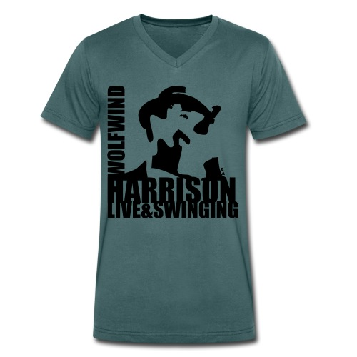 Harrison Live & Swinging Mens V neck T - Men's Organic V-Neck T-Shirt by Stanley & Stella