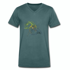 Charm  Men's Collection - T-shirt ecologica da uomo con scollo a V di Stanley & Stella
