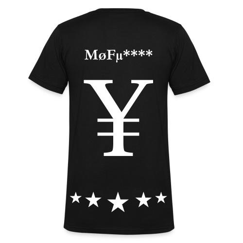 Mofu**** Shirt - Männer Bio-T-Shirt mit V-Ausschnitt von Stanley & Stella