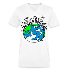 EARTH_PREMIUM_Col V - Men's Organic V-Neck T-Shirt by Stanley & Stella