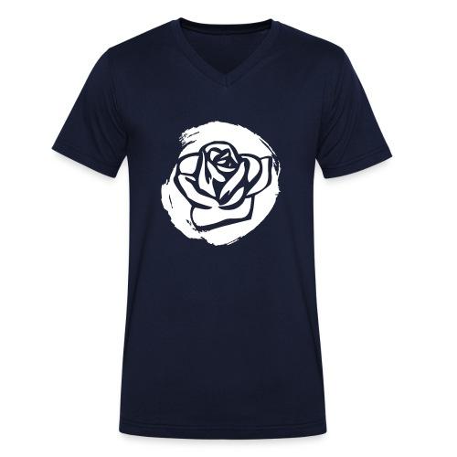 Rose 1 M - Männer Bio-T-Shirt mit V-Ausschnitt von Stanley & Stella