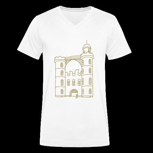 Schloss der Pfaueninsel - Männer Bio-T-Shirt mit V-Ausschnitt von Stanley & Stella