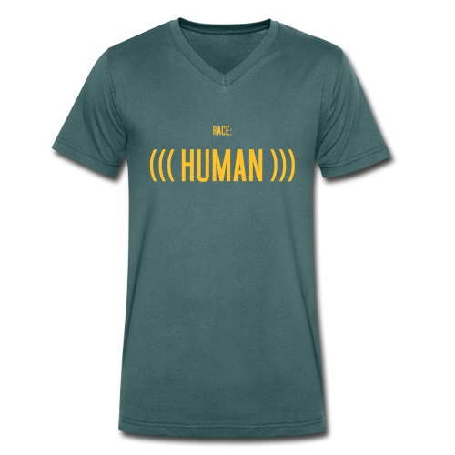 Race: (((Human))) - Männer Bio-T-Shirt mit V-Ausschnitt von Stanley & Stella