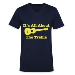 All About The Treble V Neck T - Men's Organic V-Neck T-Shirt by Stanley & Stella