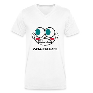 Para-Brilliant /white - Men's Organic V-Neck T-Shirt by Stanley & Stella