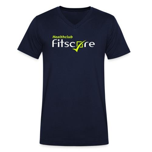 Heren T-shirt Healthclub Fitscore - Mannen bio T-shirt met V-hals van Stanley & Stella
