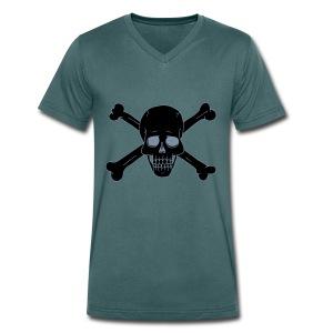 Totenschädel 2 - Männer Bio-T-Shirt mit V-Ausschnitt von Stanley & Stella