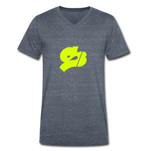 SB-Rot-ws - Männer Bio-T-Shirt mit V-Ausschnitt von Stanley & Stella