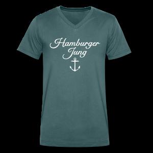 Hamburger Jung Anker Classic V-Neck T-Shirt - Männer Bio-T-Shirt mit V-Ausschnitt von Stanley & Stella