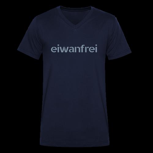 """Männer Shirt """"eiwanfrei in silber-metallic"""" - 6 Farben - Männer Bio-T-Shirt mit V-Ausschnitt von Stanley & Stella"""