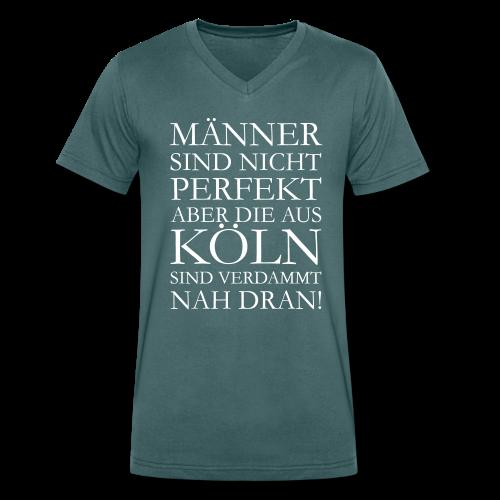 Männer aus Köln V-Neck T-Shirt - Männer Bio-T-Shirt mit V-Ausschnitt von Stanley & Stella