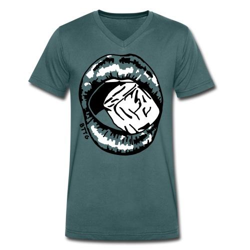 LIPS - ice - Männer Bio-T-Shirt mit V-Ausschnitt von Stanley & Stella