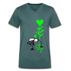 Love Tree Man - Men's Organic V-Neck T-Shirt by Stanley & Stella