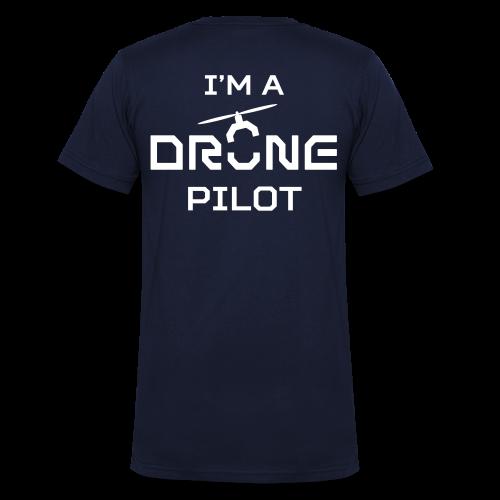 T-shirt V: I'm a Drone Pilot (men)   Navy - Mannen bio T-shirt met V-hals van Stanley & Stella