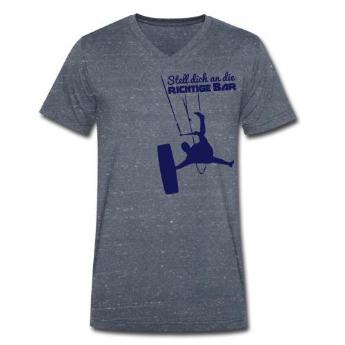 Board-Off richtige Bar Bursch'n V-Shirt - Männer Bio-T-Shirt mit V-Ausschnitt von Stanley & Stella