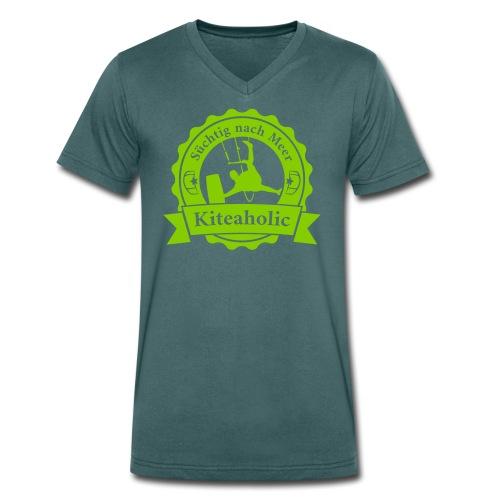 Kiteaholic Bursch'n V-Shirt - Männer Bio-T-Shirt mit V-Ausschnitt von Stanley & Stella