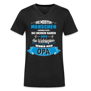 Beim Namen nennen - Opa T-Shirts - Männer Bio-T-Shirt mit V-Ausschnitt von Stanley & Stella