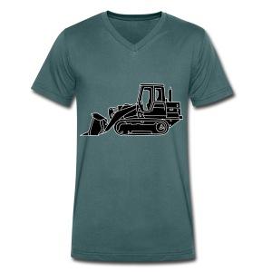 Bulldozer Planierraube 2 - Männer Bio-T-Shirt mit V-Ausschnitt von Stanley & Stella