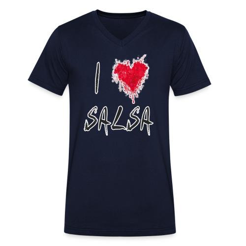 I Love Salsa - Männer Bio-T-Shirt mit V-Ausschnitt von Stanley & Stella