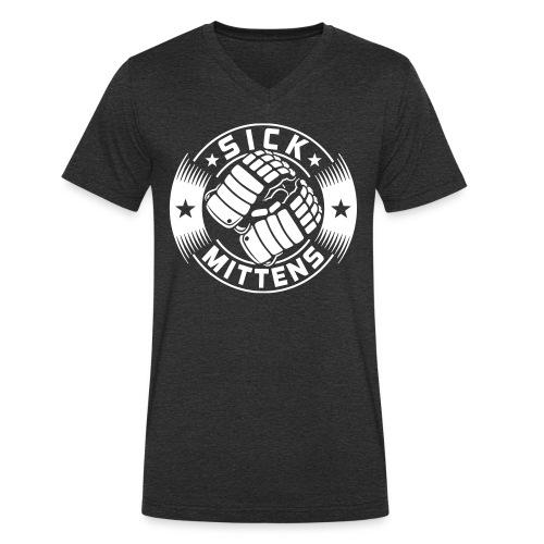 Sick Mittens Men's V-Neck T- Shirt - Men's Organic V-Neck T-Shirt by Stanley & Stella