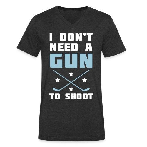 I Don't Need A Gun To Shoot Men's V-Neck T-Shirt - Men's Organic V-Neck T-Shirt by Stanley & Stella