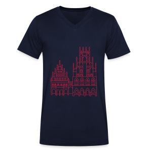 Rathaus Münster - Männer Bio-T-Shirt mit V-Ausschnitt von Stanley & Stella