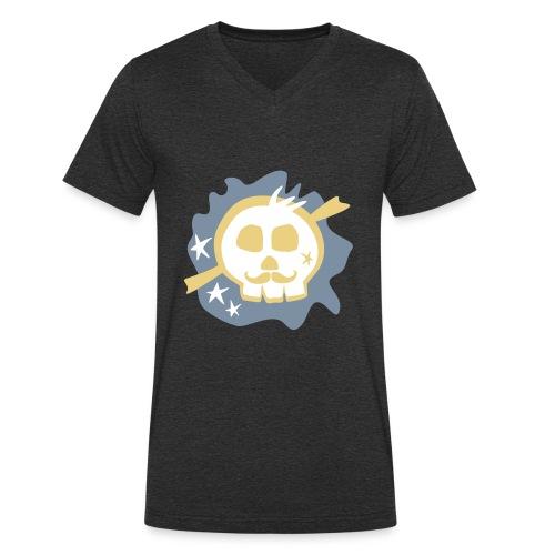 Funky Skull - Männer Bio-T-Shirt mit V-Ausschnitt von Stanley & Stella