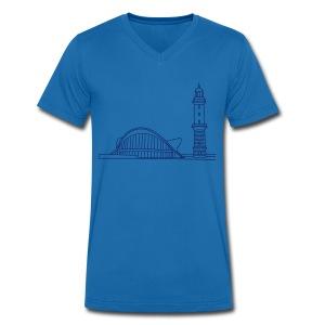 Leuchtturm Warnemünde Rostock. - Männer Bio-T-Shirt mit V-Ausschnitt von Stanley & Stella