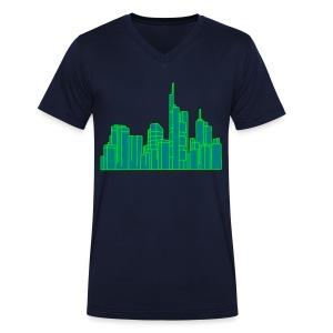 Frankfurt Skyline 2 - Männer Bio-T-Shirt mit V-Ausschnitt von Stanley & Stella