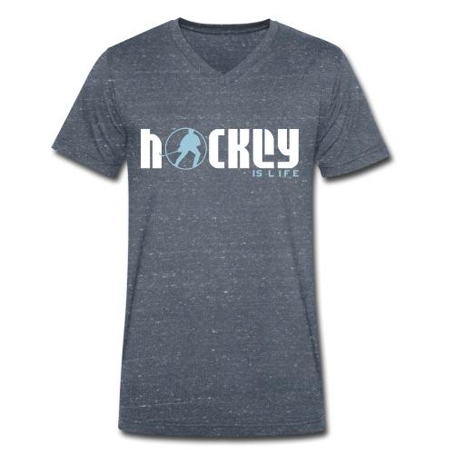 Hockey is Life Men's V-Neck T-Shirt - Men's Organic V-Neck T-Shirt by Stanley & Stella
