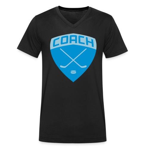 Ice Hockey Coach Men's V-Neck T-Shirt - Men's Organic V-Neck T-Shirt by Stanley & Stella