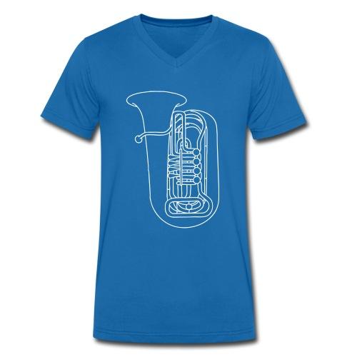 Tuba Blechblasinstrument - Männer Bio-T-Shirt mit V-Ausschnitt von Stanley & Stella