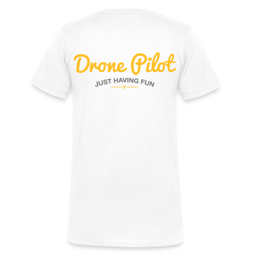 T-shirt V: Drone Pilot Just Having Fun (men) | White - Mannen bio T-shirt met V-hals van Stanley & Stella