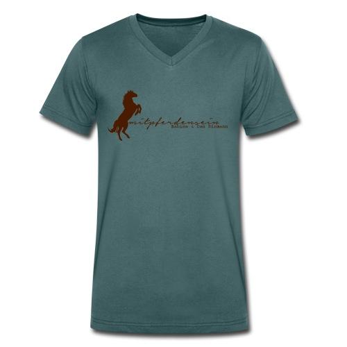 RU Font, Men V-  Neckshirt( Print Chocolate) - Männer Bio-T-Shirt mit V-Ausschnitt von Stanley & Stella