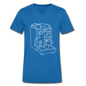 Espressomaschine Barista - Männer Bio-T-Shirt mit V-Ausschnitt von Stanley & Stella