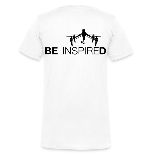 T-shirt V: Be Inspired (men) | White - Mannen bio T-shirt met V-hals van Stanley & Stella