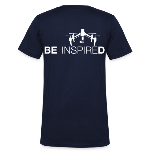 T-shirt V: Be Inspired (men) | Navy - Mannen bio T-shirt met V-hals van Stanley & Stella