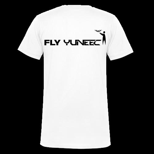 T-shirt V: Fly Yuneec (men) | White - Mannen bio T-shirt met V-hals van Stanley & Stella