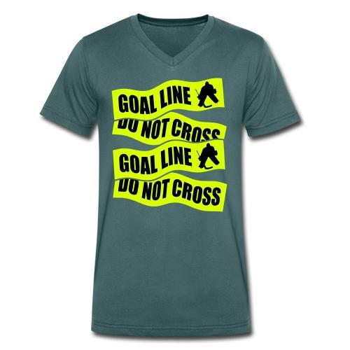 Goal Line Do Not Cross Men's V-Neck T-Shirt - Men's Organic V-Neck T-Shirt by Stanley & Stella