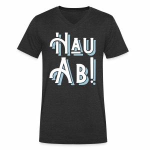Hau Ab! Men's V-Neck T-Shirt - Men's Organic V-Neck T-Shirt by Stanley & Stella