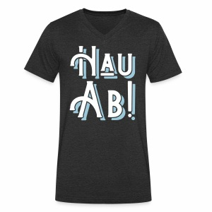 Hau Ab! Men's V-Neck T-Shirt - Men's Organic V-Neck T-Shirt by Stanley & Stella