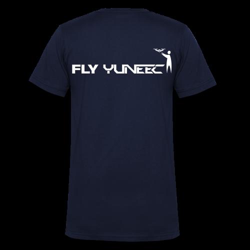 T-shirt V: Fly Yuneec (men) | Navy - Mannen bio T-shirt met V-hals van Stanley & Stella
